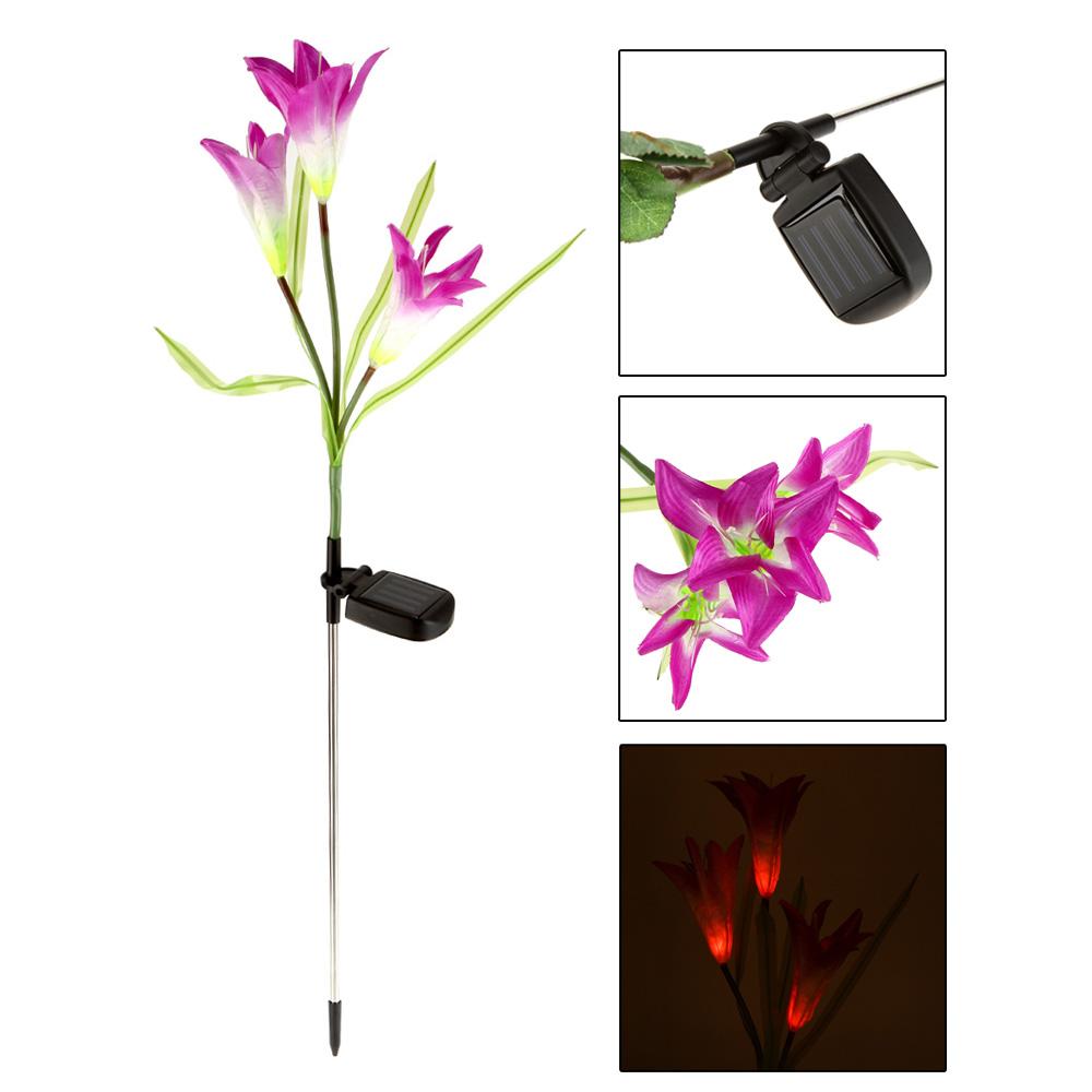 Ландшафтное освещение Oem Powerfrugal Lily Flower Lamps миска lily flower g2286 h4266