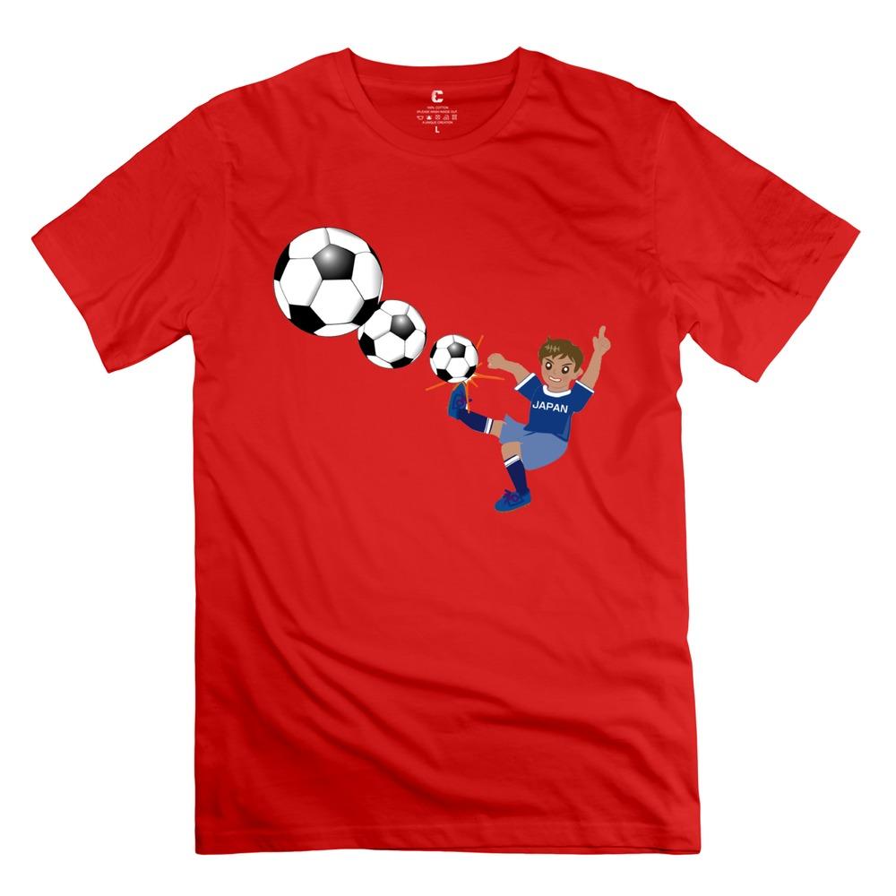 Promotion Soccer Men t shirt 2015 Cute men Round N