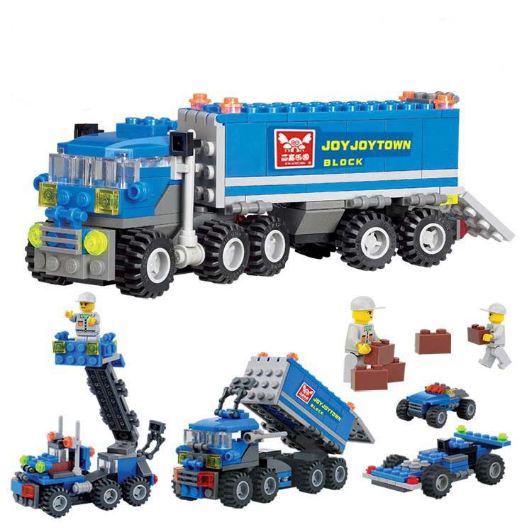 New Original Transformation Transport Truck Building Blocks 163pcs/set Enlighten Education Bricks Toys Compatible with Lego Kazi(China (Mainland))