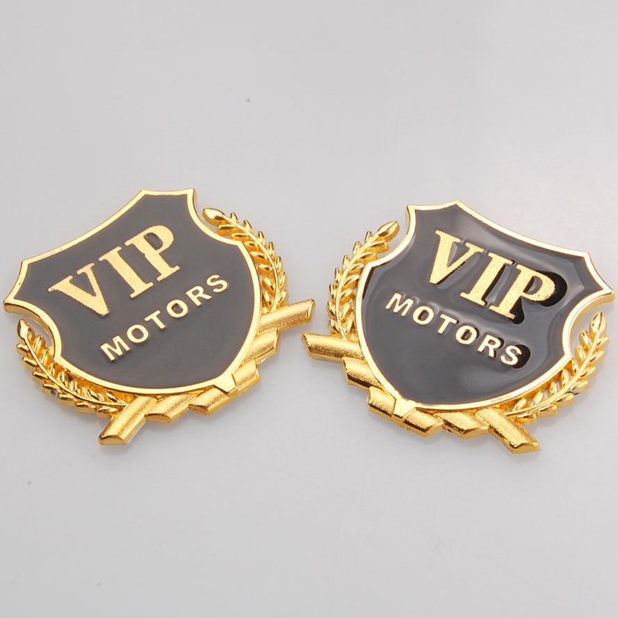 2 Pcs ouro 3D VIP Car Side emblema do Metal emblema do decalque do Motor etiqueta para Toyota(China (Mainland))