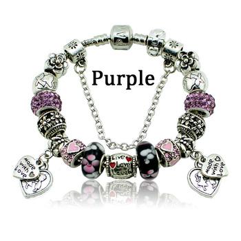 Новинка мода муранского бусины в форме сердца шарм браслеты и браслеты подходят пандора ...