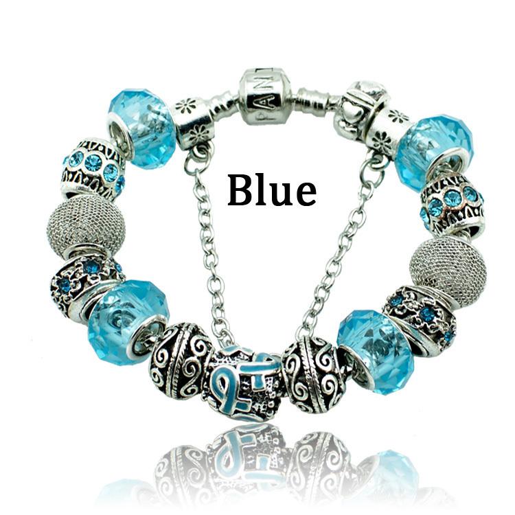 Новинка мода муранского бусины в форме сердца шарм браслеты и браслеты подходят пандора браслет делая серебряные браслеты для женщин девушки