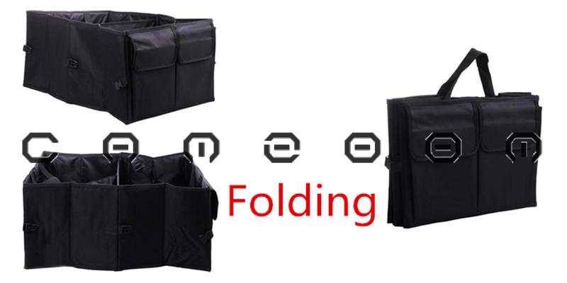 1 Piece Black Car Trunk Cargo Storage Bag Car Trunk Non-Woven Fabrics Storage Bag For Universal Vehicle U0245(China (Mainland))