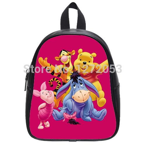 Unique Winnie the Pooh Backpack Custom Kid's School Bag Best Gift For Children U4532583(China (Mainland))