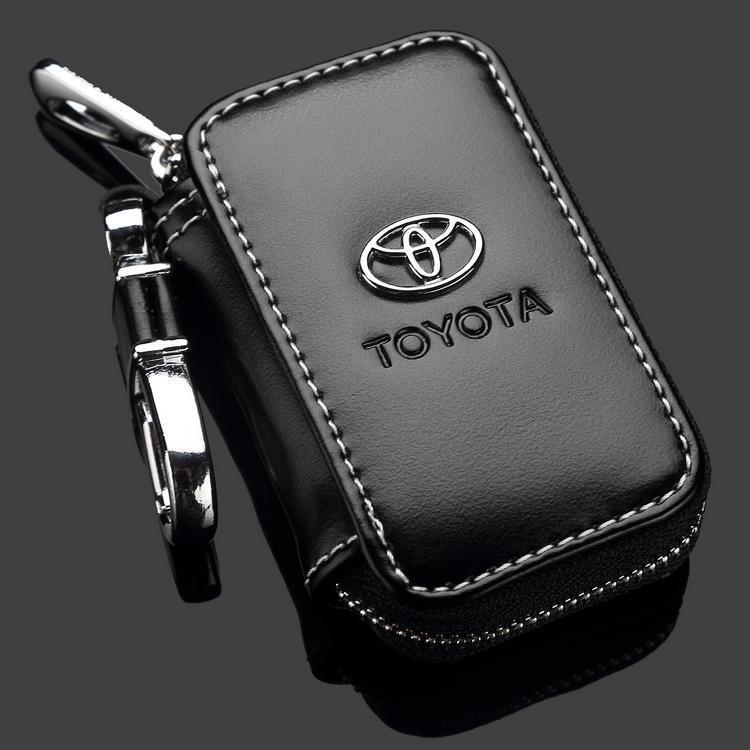 high quality Toyota RAV4 Camry Highlander Corolla Prado Yaris leather car key case ,key cover accessories(China (Mainland))
