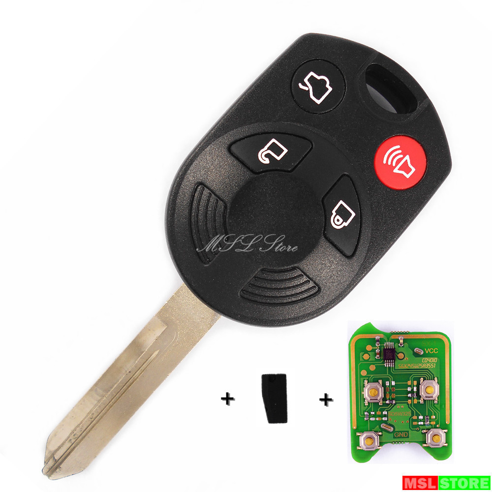 Remote Key with 4D60 Chip 315MHz for Mercury FORD Edge Escape Expedition Flex Fusion Mustang Taurus Lincoln Navigator MKX MKZ(China (Mainland))