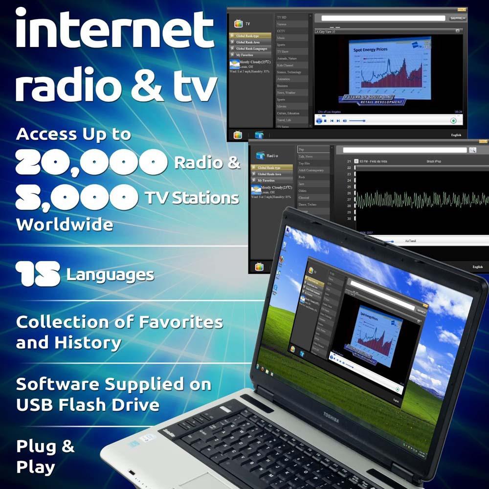 Internet TV Radio Player Dongle USB Worldwide TV Stick Support Windows/Mac OS CPU 1GHz or above(China (Mainland))