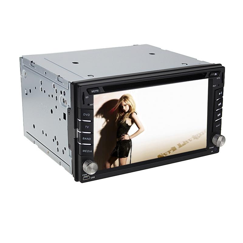 Two Din 6.2 Inch Car DVD Player For NISSAN TIIDA QASHQAI X-TRAIL With GPS Bluetooth Radio Free Map(China (Mainland))