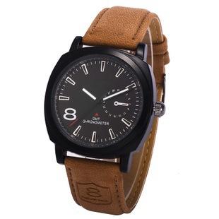 2015 New Fashion Business Quartz Watch Men Sport Watches Brand Military Watch Men Corium Leather Strap