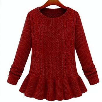 Мода юбка твист свитера для женщин винтаж