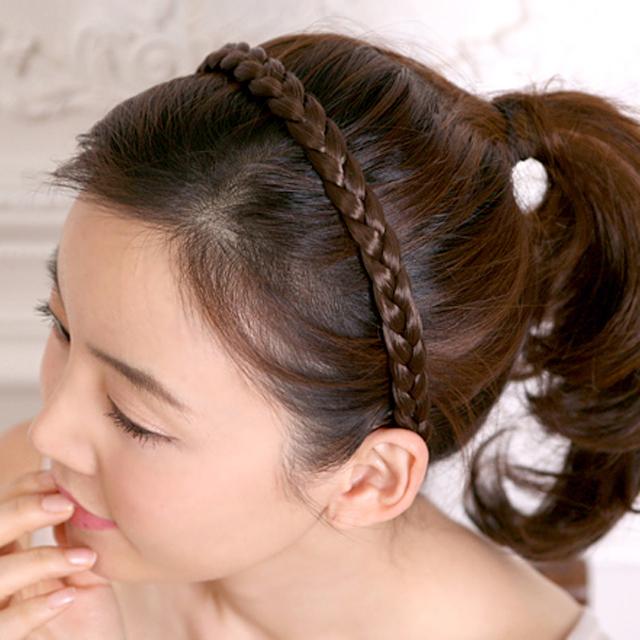 Fake Hair Plait Headband Blonde 117