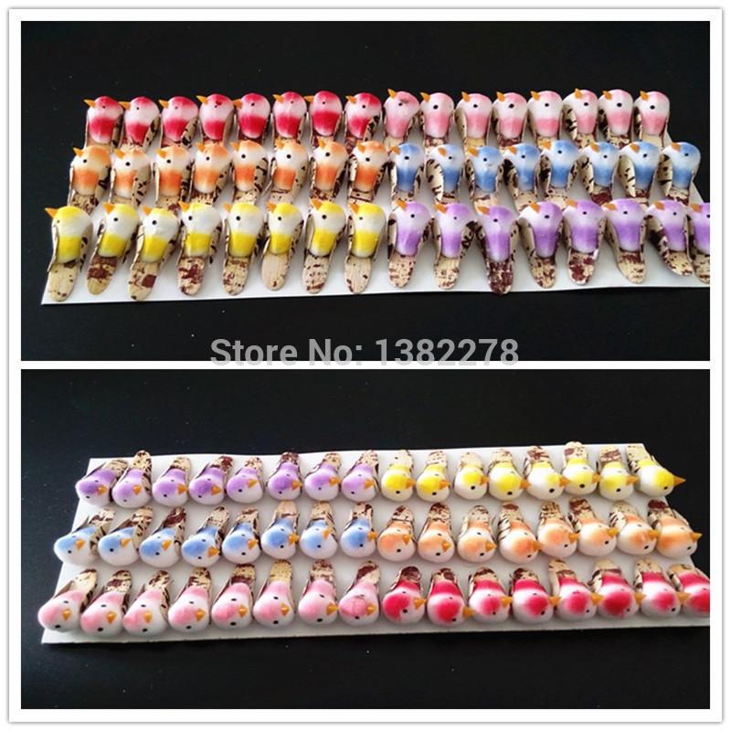 NEW !<48PCS/LOT>3CM colorful foam birds Wedding home decoration Diy Craft scrapbook Event party supply(China (Mainland))