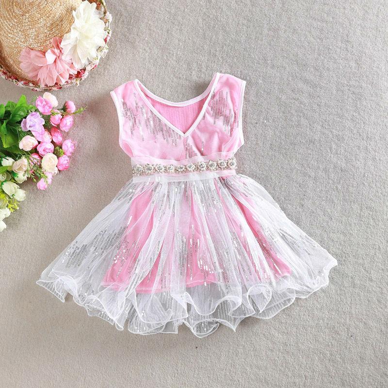 [Eleven Story] Girls 2015 new summer tutu dresses baby kids Sleeveless clothing BN502DS-08(China (Mainland))