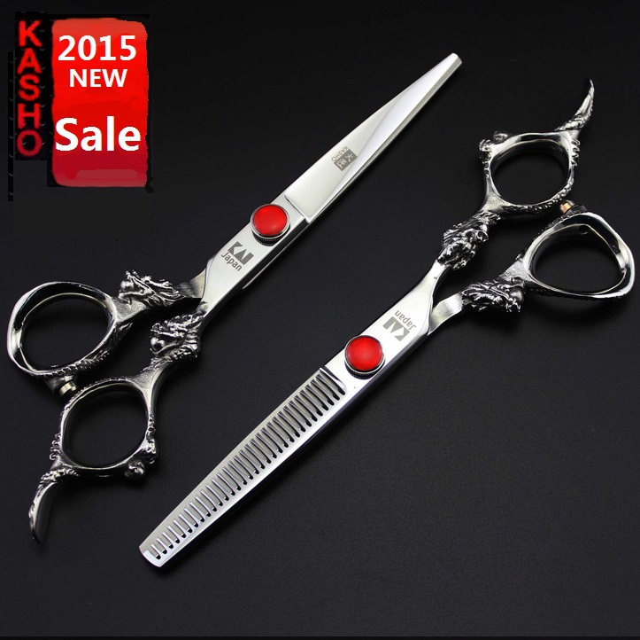 japan kasho high quality professional hair scissors hairdressing barber scissors hair cutting for haircut pelo tijera peluquero(China (Mainland))