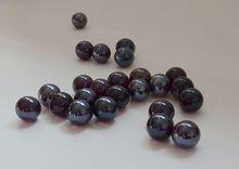 O envio gratuito de luz plated dark purple bolas de vidro mármores vaso de decoração tanque de peixes de brinquedo(China (Mainland))