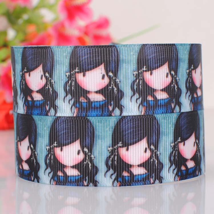 "2015 Special Offer Promotion 1"" Grosgrain Tape 25mm Ribbon Girl Cartoon Childhood Series Thread Diy Hair Ornament Ribbon-0523(China (Mainland))"