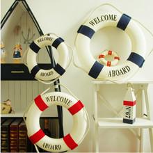 2015 New Fashion Mediterranean Style Lifebuoy Home Wall Hanging Boat Swim Ring Decoration Sea Aboard Craft(China (Mainland))