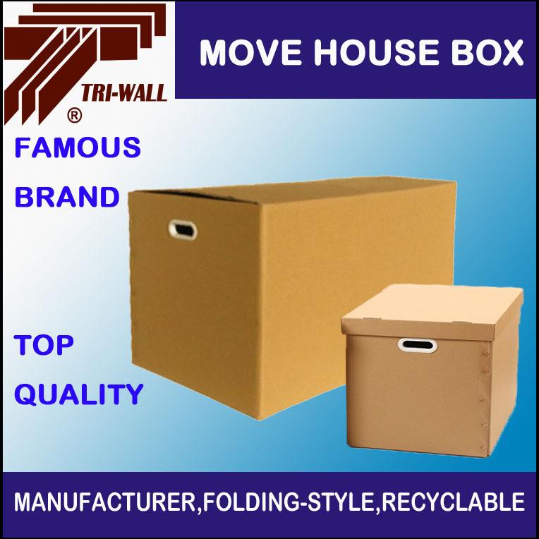 Mudança de caixa de papelão ondulado caixa de armazenamento doméstico(China (Mainland))