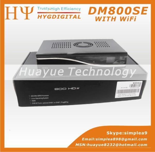 DM800hd se Sim2.10 With WiFi Black dm800se wifi Satellite receiver Sunray dm800 se with 300Mbps WIFI(China (Mainland))