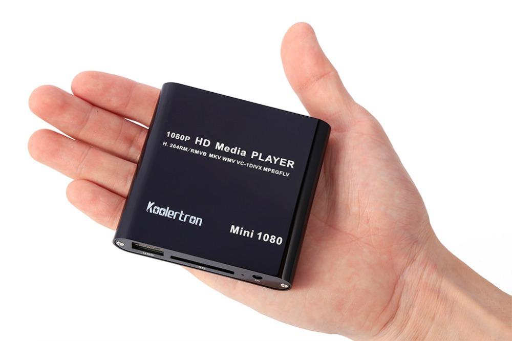 Koolertron 2015 New Disco Duro Multimedia Mini Media Player hd 1080P HDMI SD/USB HD Media Player MKV/RM/RMVB Wholesale Black(China (Mainland))