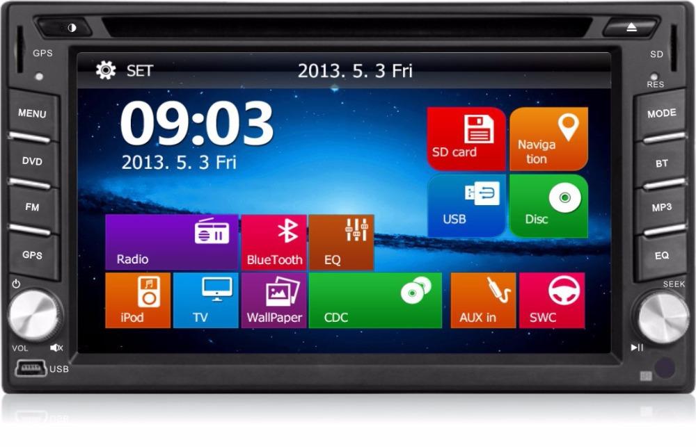 Car DVD player GPS Navigation 2DIN Car Stereo Radio Car GPS Bluetooth USB/SD Universal Interchangeable Player ship from US(China (Mainland))