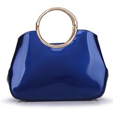 Elegant Women's Shoulder Bags Genuine Patent Leather Handbags Vintage Ladies' Tote Bags Bolsas High Quality 2-3 Days to Russia(China (Mainland))