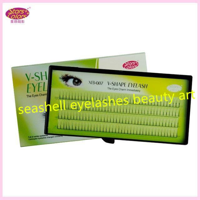 2015 Hotsale Stars Colors Makeup Eyes Lashes 0.07mm V Y Type C Curl Individual False Eyelashes Extension 8/10/12mm(China (Mainland))