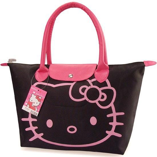 2015Hotsale+Free Shipping,New Arrival Hello Kitty Bag /Shopping Bag/Hand BagBlack,Pnk,Red,Rose pink,1PCS(China (Mainland))