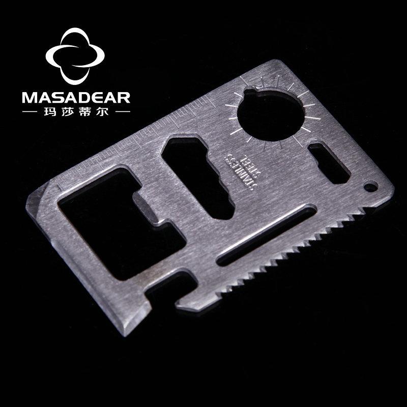 MASADEAR Multi Knife Multi Pocket Survival Tools Card 11 Function Saber Card Knife Outdoor Multifunction knife Camping(China (Mainland))
