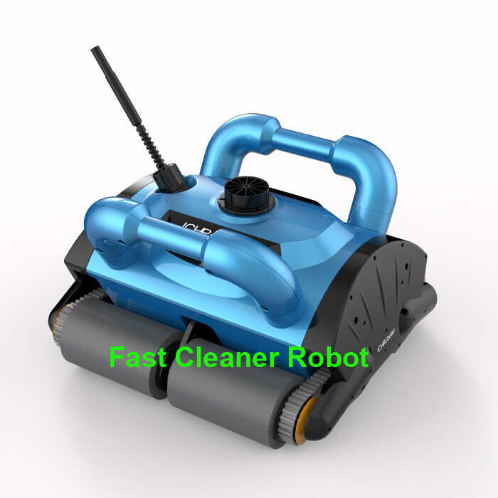 Free Shipping New Model iCleaner-200 with 15m cable Swim Pool Robot Cleaner robot swimming pool cleaner with caddy cart CE&Rohs(China (Mainland))