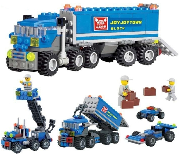 New Original KAZI 6409 city Truck Model Building Blocks Sets 163pcs/lot Deformation Car Bricks Toys Compatible with Lego(China (Mainland))