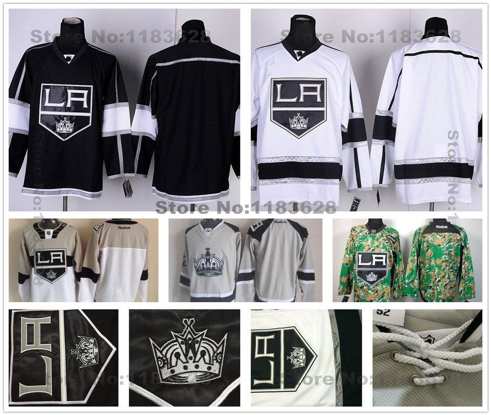 Blank Los Angeles Kings Jerseys Black White Camo Stadium Series Silver Ash Grey LA Kings Jerseys Los Angeles Kings Blank Jersey(China (Mainland))