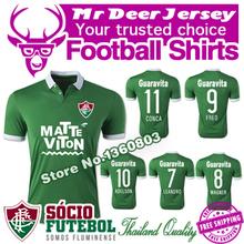2016 nova Fluminense away Soccer jersey 15 16 brasil Serie A Fluminense verde kit camisa de futebol CONCA FRED ADELSON WAGNER(China (Mainland))