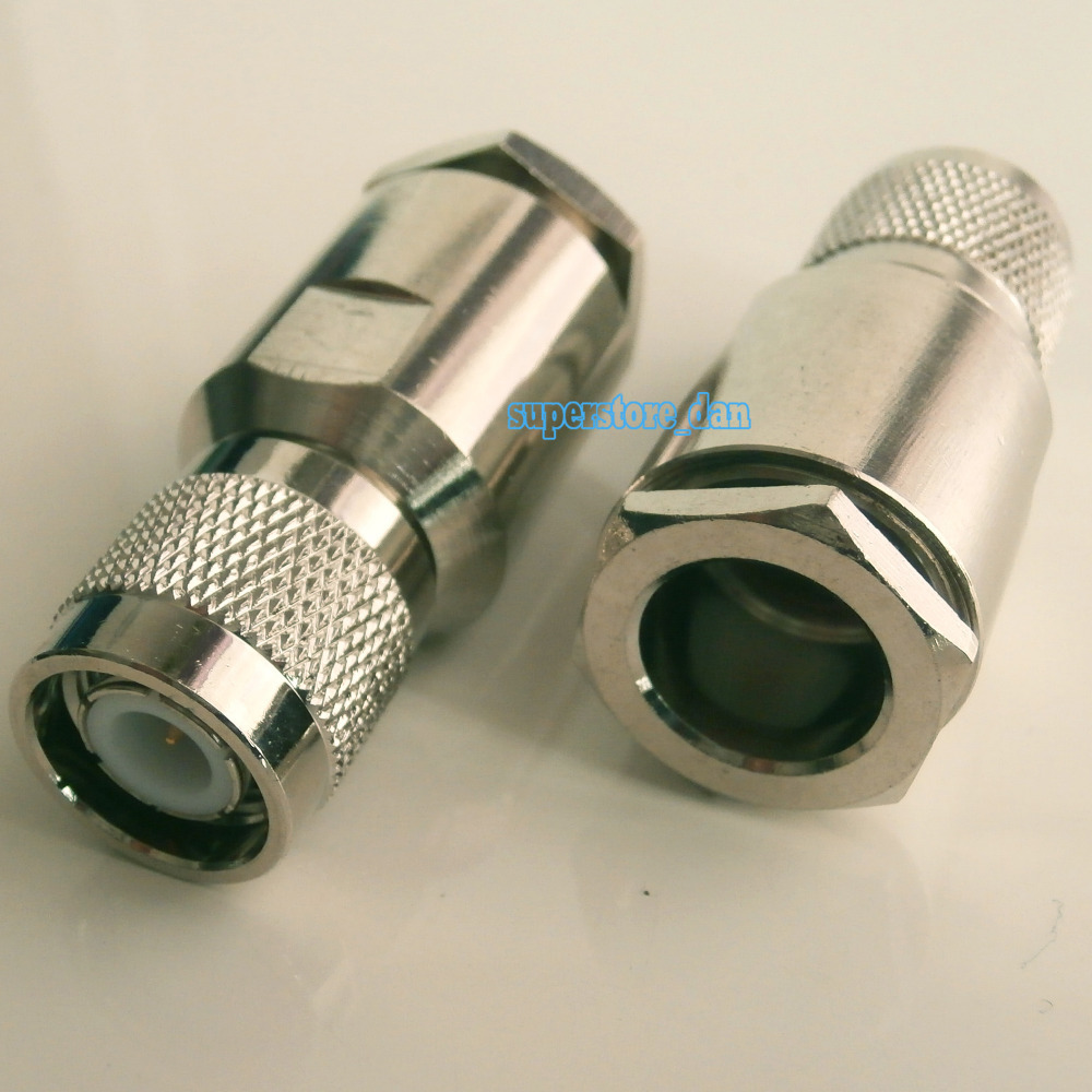 1pce Connector TNC male clamp RG8 RG213 LMR400 RG214 9913 cable straight(China (Mainland))