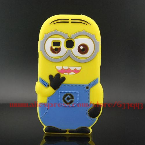 For Samsung Galaxy Fame Lite S6790 3D Despicable Me Minions Soft Rubber Silicone Cell Phone Back Case Cover(China (Mainland))