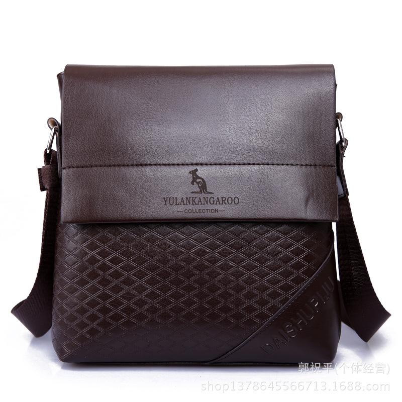 Free shipping new 2015 hot sale men fashion shoulder bag messenger bags casual leather bag man small business bolsa wholesale(China (Mainland))