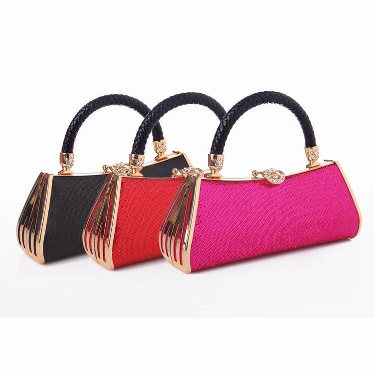 Luxury Fashion Tote Bag Metal Glitter Clutch Handbag Diamond Evening Bags Women Prom Party Bridal Handbag 3Colors FH46(China (Mainland))