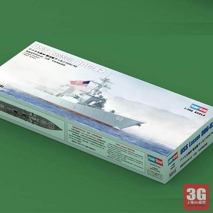 Hobbyboss Trumpeter 1/700 scale ship 83412 USS LASSEN DDG-82 battleship assembly model kits Modle building scale battleship(China (Mainland))