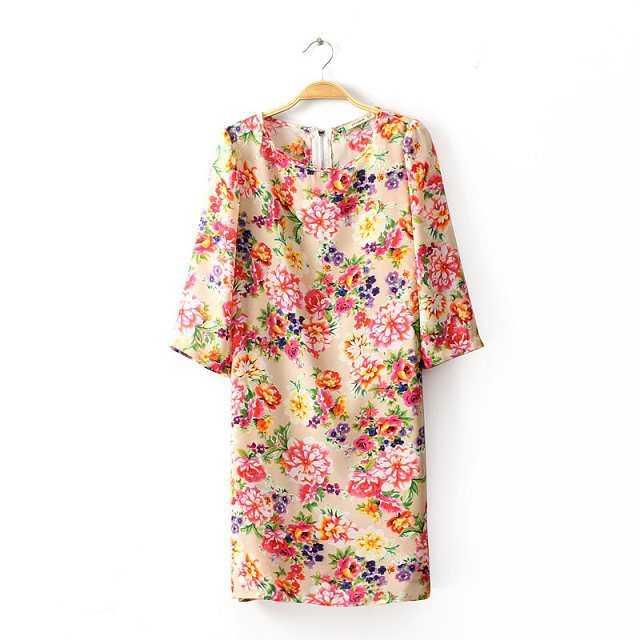 Free Shipping new 2015 fashion vintage crew neck long sleeve slim dresses elegant air 20150353(China (Mainland))