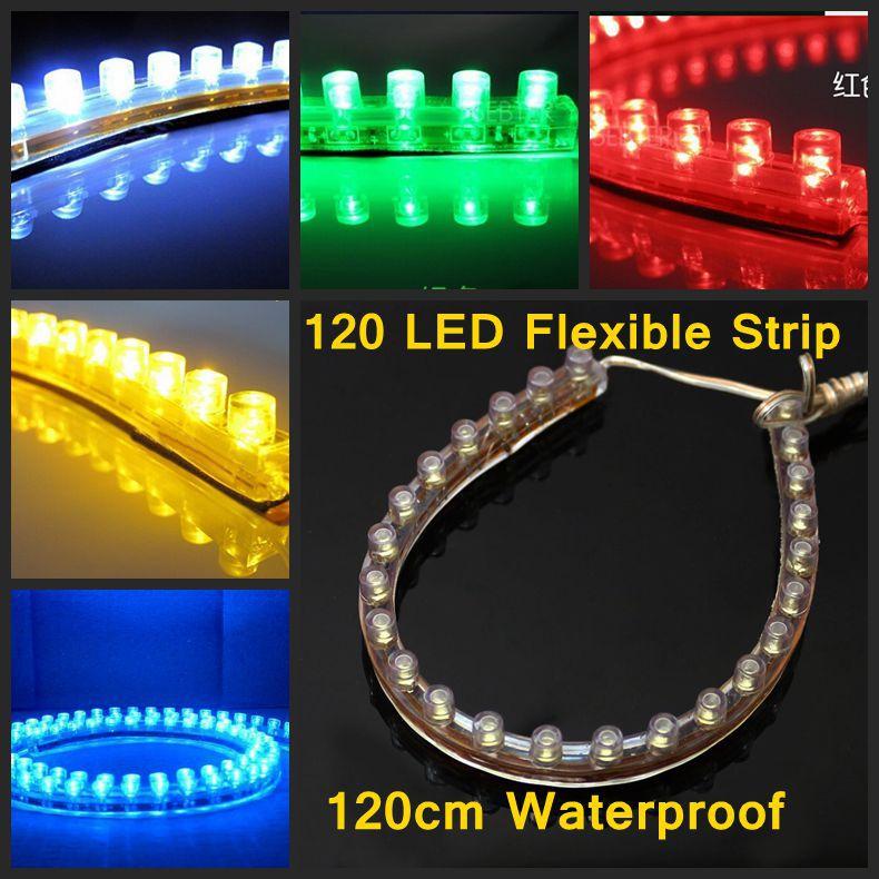 5 Colors 120 LED 120CM Strip Aquarium Fish Tank Car Light Lamp Submersible Waterproof(China (Mainland))