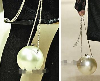 Известный логотип бренда класса люкс arcylic глобус форма перлы свадебные ну вечеринку клатч вечерняя сумочка женская сумочка цепи плеча сумку