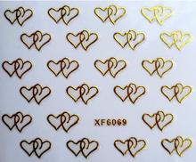 nail sticker 3D art  sticker on nails  Bronzing beauty manicure fashion stickers for nail 1sheet XF6069
