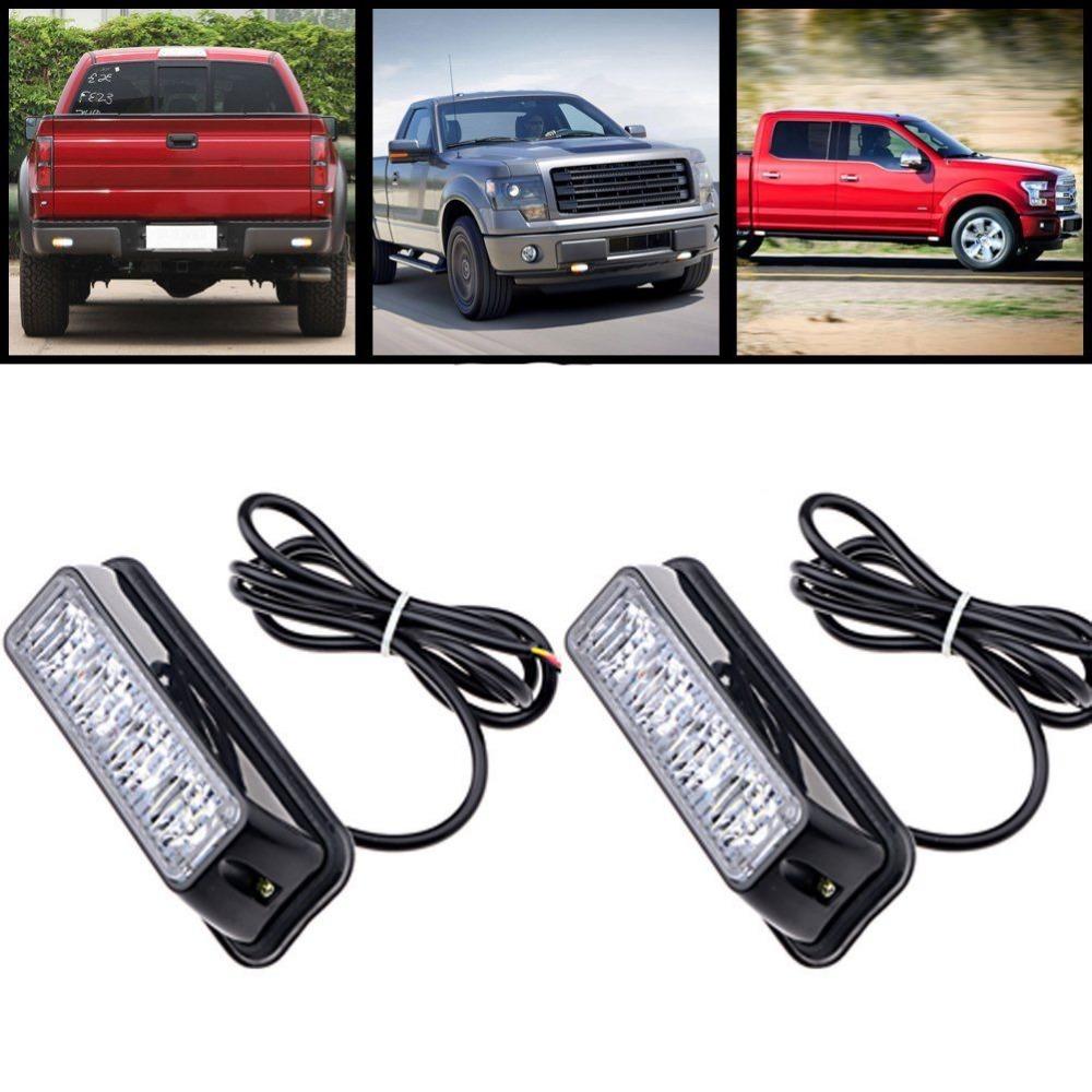 High Quality 4 LED Car Emergency Beacon Light Bar 12 Flashing Mode 4W 12V led Strobe light for Universal fit Hazard Truck(China (Mainland))