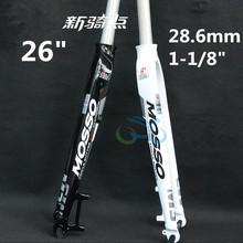 """Mosso M3 Bike Fork 26 """" roda de bicicleta diâmetro do tubo 28.6 mm disco de freio de alumínio ultraleve garfo dianteiro B168(China (Mainland))"""