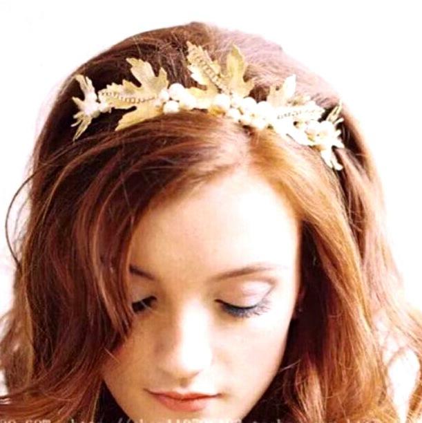 Head Wreath Greek Greek Goddess Wreath Gold