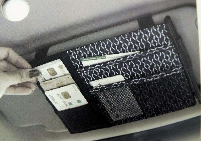 Multifunctional Auto Car Sun Visor Point Pocket Organizer Storage Bag For Ticket Card Coins(China (Mainland))