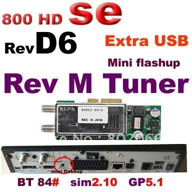 2012 free shipping lastest Rev D6 800 SE receiver 800 hd SE 800se satellite receiver 800 hd SE Extra USB(China (Mainland))