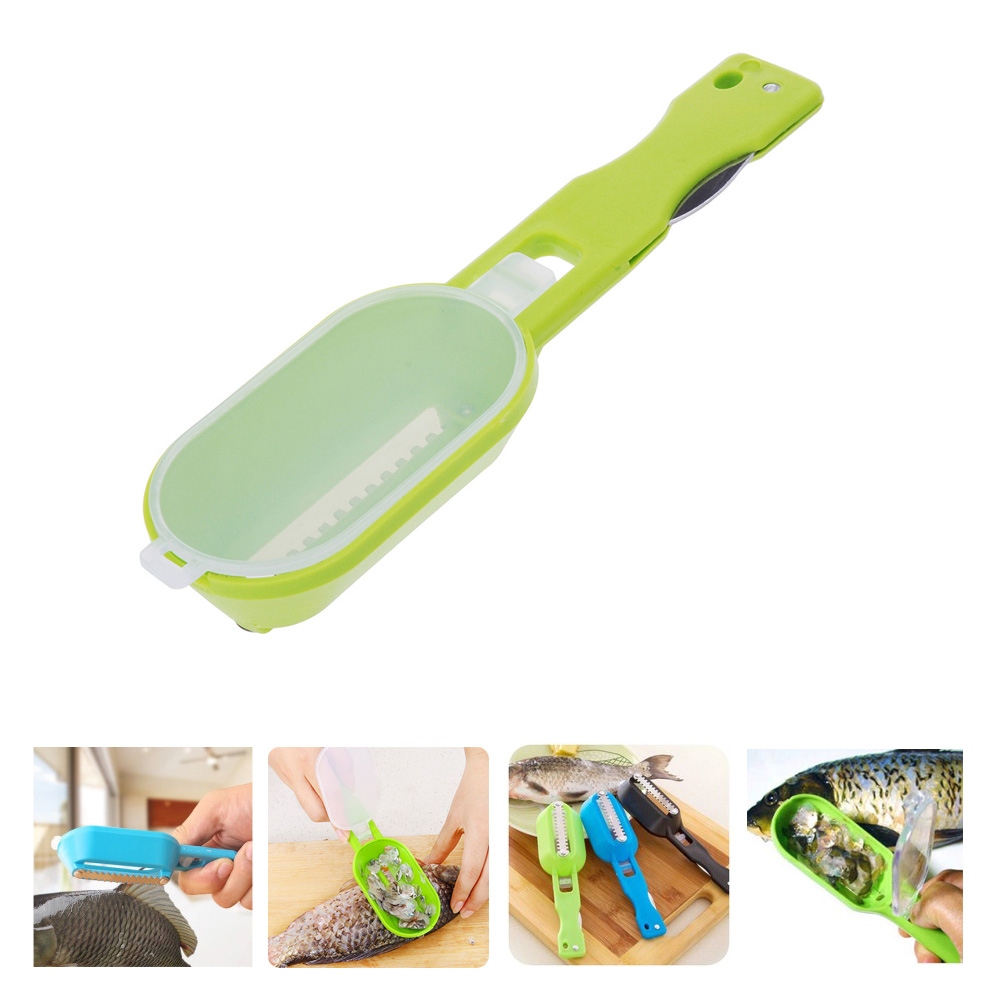 Practical Fish Scaler Scale Scraper Clam Opener for Cleaning Scraping Fish Kitchen Accessories Gadgets Cooking Tools(China (Mainland))