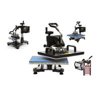 New Design Heat Transfer Machine 5 in 1 T shirt/Mug/Cap/Plate/Mouth Pad/cellphone/iphone case printer,heat press machine