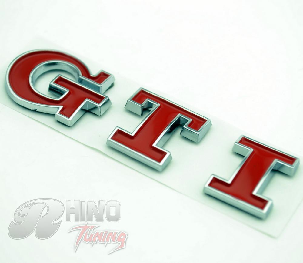 Car Red GTI Golf Emblem Sticker for VW Golf Polo GTI Rear Boot Trunk Car Badge 498rd(China (Mainland))
